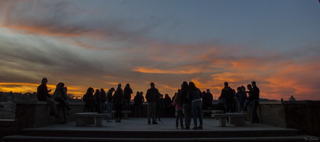 Roma Sunset Alla Terrazza Del Giardino Degli Aranci Flickr