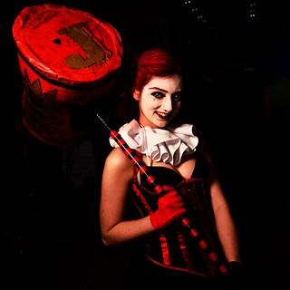 Harley Quinn poses