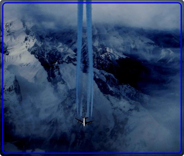 Flying over Swiss Alps