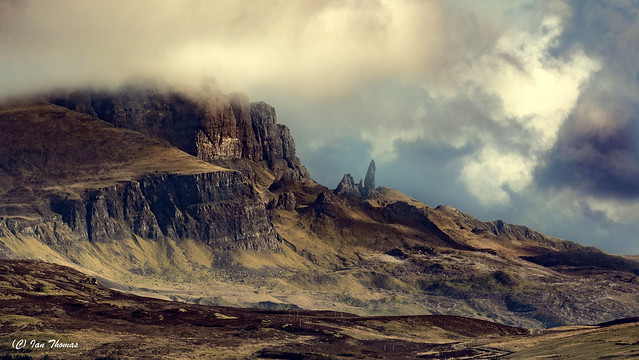 The Old Man Of Stor Stands Out On The Skyline On The Isle Of Skye .. Taken from 7 miles away