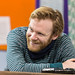 Brian Gleeson in rehearsals for The Weir, Roseburn Workshops, The Lyceum