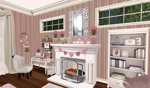 Bedroom Desk & Fireplace (H&G Expo 2016) | by Hidden Gems in Second Life (Interior Designer)