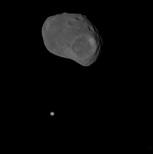 Phobos and Jupiter - Mars Express | by jccwrt