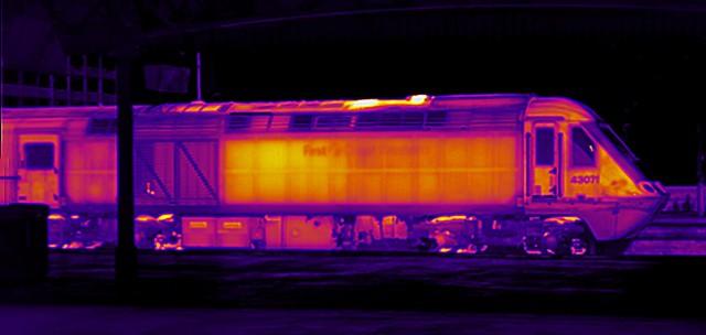 Diesel-electric loco thermal image