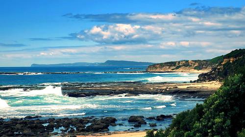 ocean sea seascape landscape coast scenery pacific rocky australia coastline rugged norahhead peterch51