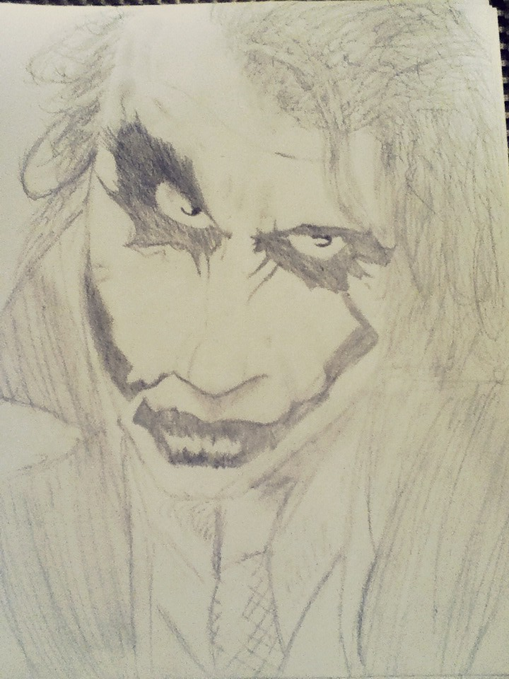 The Dark Knight Joker Drawing Hey Guys This Was Just A 1