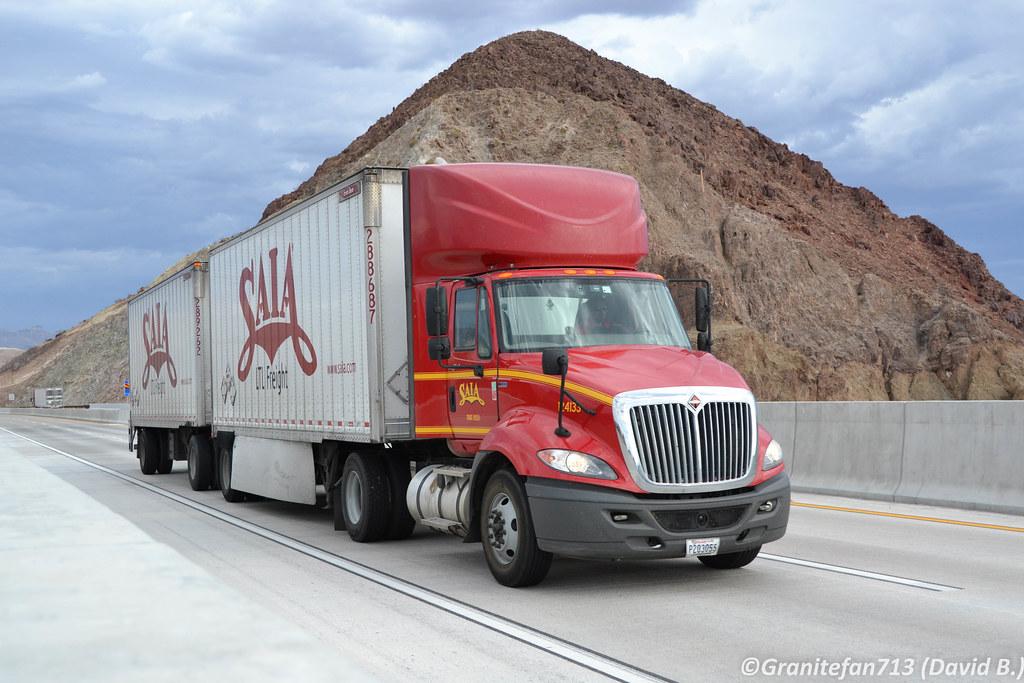 ... Trains Saia LTL Freight International ProStar (NV)   by Trucks, Buses, & Trains