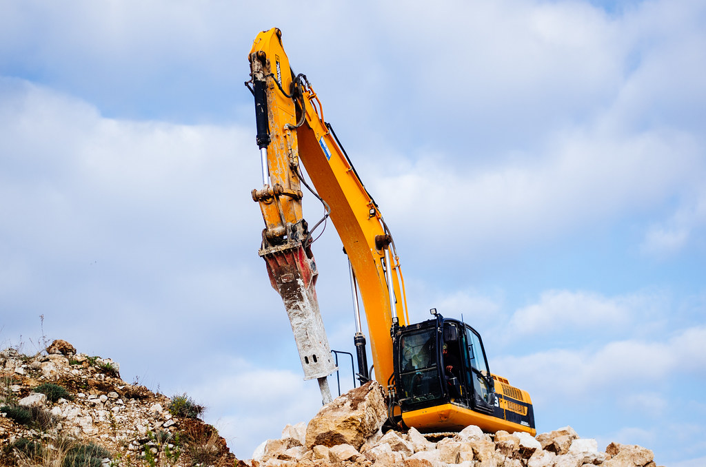 Rock breaker | These machines are all over the city breaking