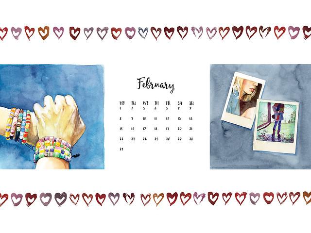 Desktop Wallpaper Calendar February 2016