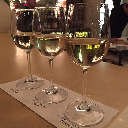Portuguese wine flight at Cafe Lucia | by sarahstierch