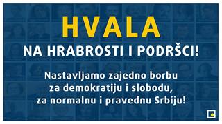 HVALA NA HRABROSTI I PODRŠCI!   by DEMOKRATSKA STRANKA