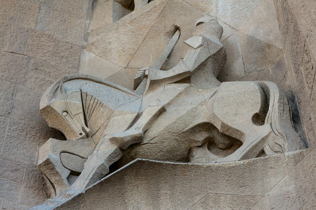 Horseman on the passion facade