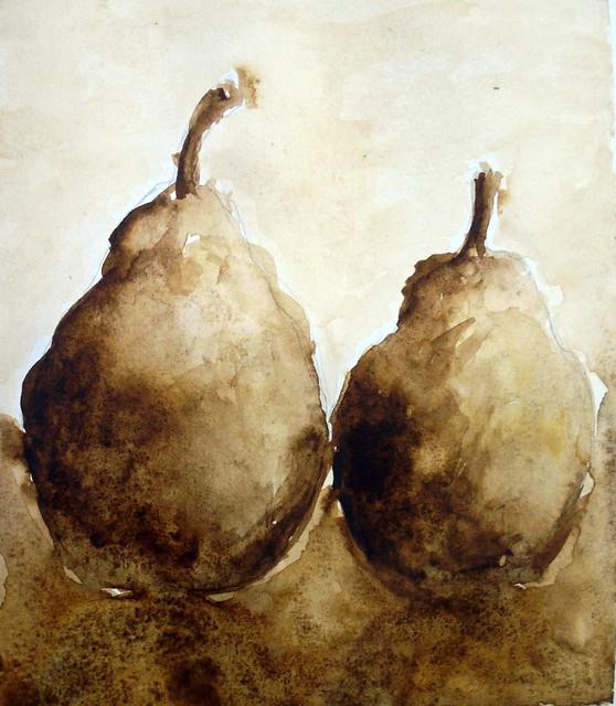 Pears in sepia 02, by Gisel - DSC02193