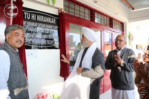 His Holiness Inaugurated Newly constructed Satsang Bhawan