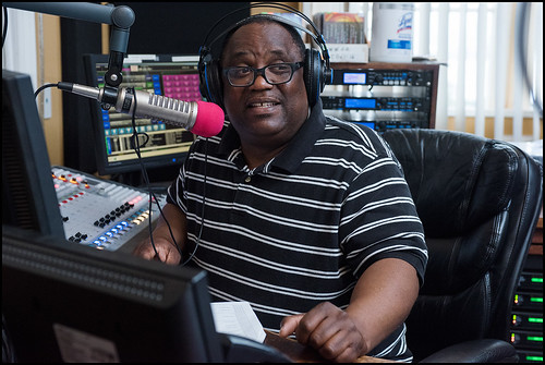 Keith Hill on air at WWOZ 2016 Spring Pledge Drive on March 18, 2016. Photo by Ryan Hodgson-Rigsbee www.rhrphoto.com