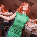 The dancing lady in green salsa bachata Kizomba Kiz Baila productions