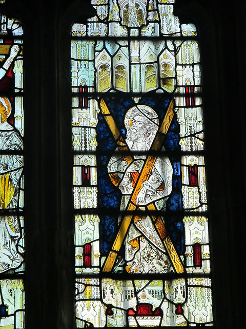 St. Andrew's stained glass window, St. Andrew's, Mottisfont SWC Walk 58 Mottisfont and Dunbridge to Romsey taken by Karen C.