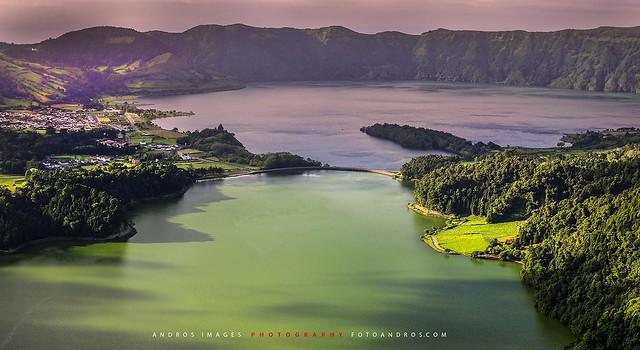 La impresionante Caldera das Sete Cidades, Isla de Sâo Miguel Archipiélago de las Azores