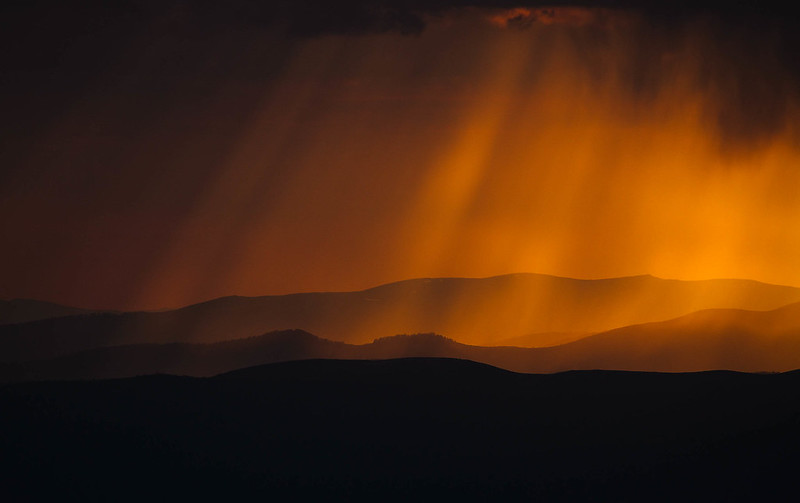 Heavenly Light Ray Silhouette