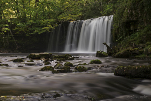 longexposure water wales forest woodland river waterfall rocks stream place unitedkingdom breconbeacons pontneddfechan shawnwhite streamriver waterfallcountry canon6d