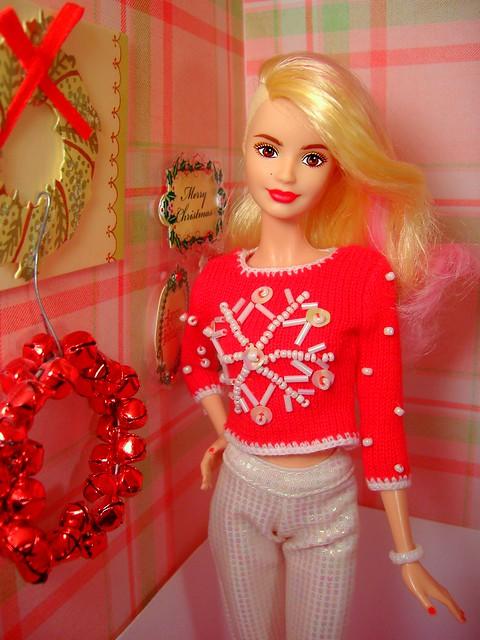 Poppy in her Christmas sweater