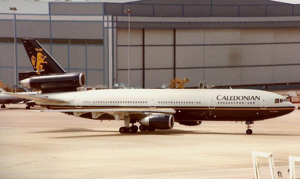 MANCHESTER JUNE 1993 CALEDONIAN AIRWAYS DOUGLAS DC10 G-BHDH