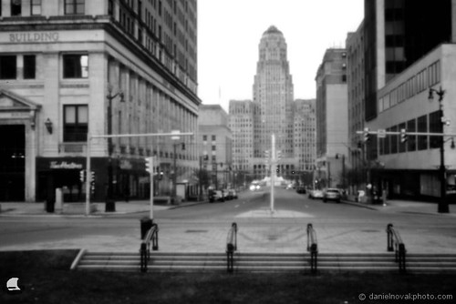 bw ny newyork square liberty photography buffalo lafayette cityhall pinhole nostalgic courtst
