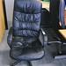 Black leatherette swivel chair