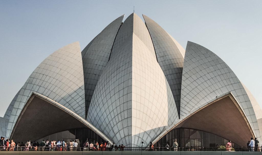 Tha Lotus Temple in Delhi