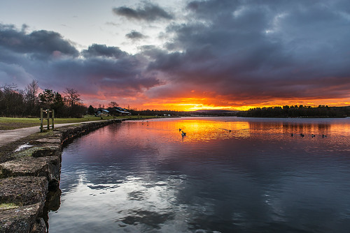 park uk sky sun water beautiful wales clouds sunrise landscape nikon glow awesome tamron gwent tredegar