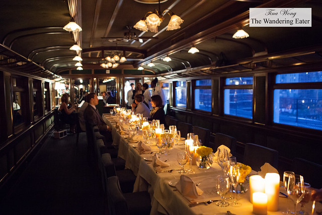 """Interior of the """"dining cart"""""""