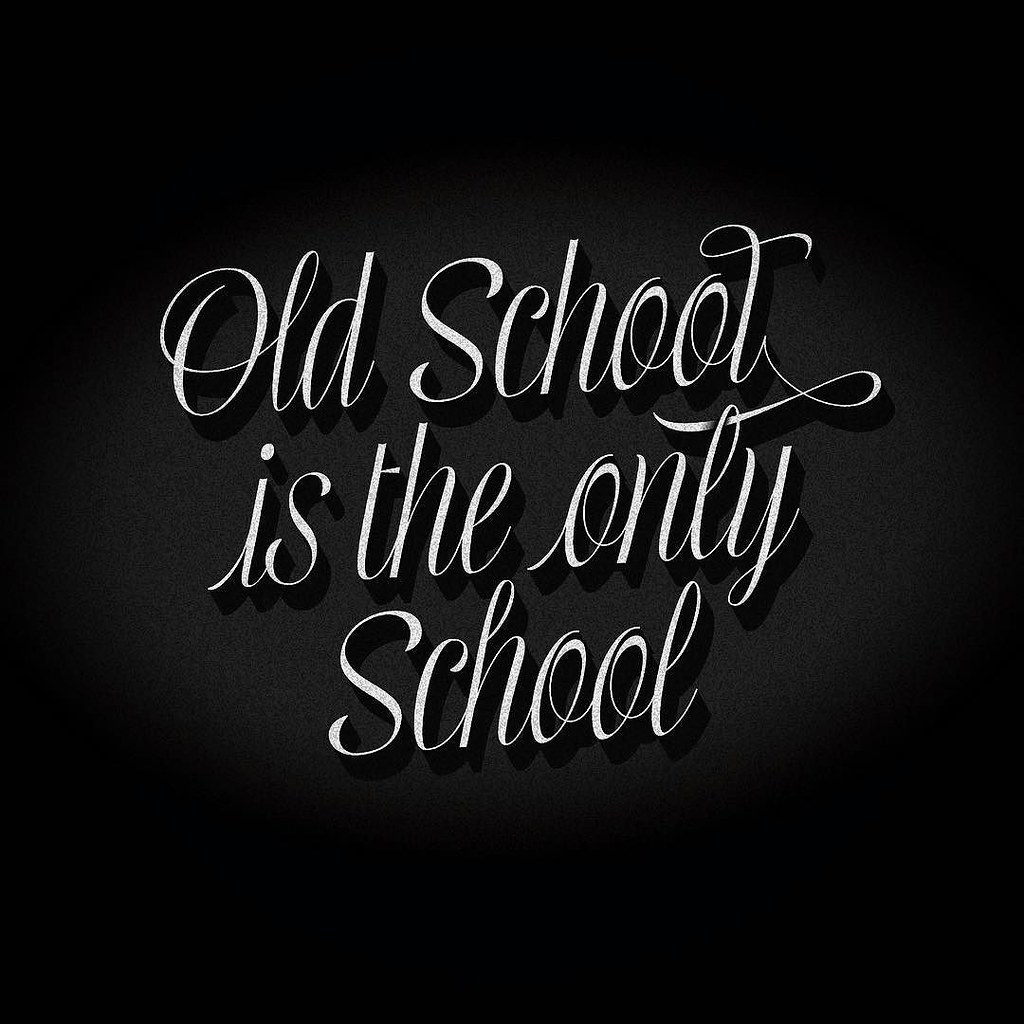 Old School is the only school bit ly/1SVa4ac Mentha font i