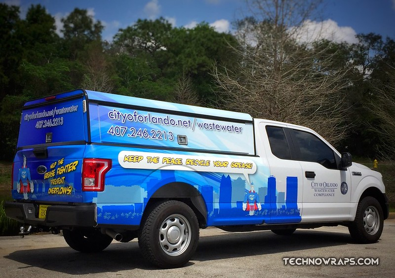 Orlando partial truck wrap from TechnoSigns