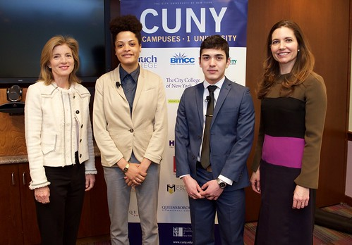 Ambassador Kennedy and Assistant Secretary Evan Ryan pose with CUNY students | by Bureau of Educational & Cultural Affairs