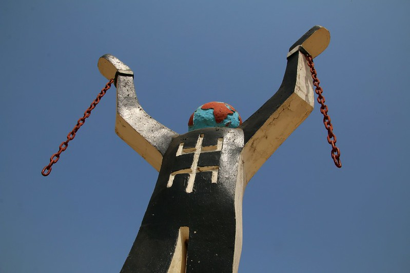 Never again ! Anti-slavery Monument in Albreda/Juffureh, Gambia