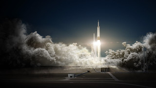 Falcon Heavy and Dragon | by Official SpaceX Photos