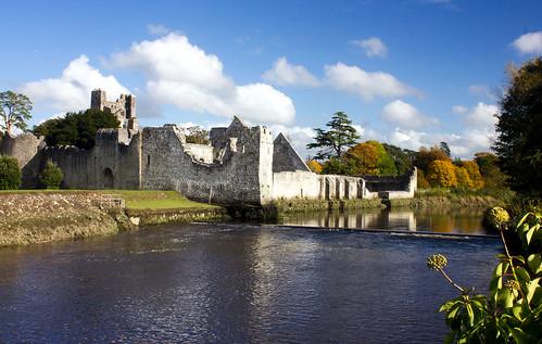 ireland castle clouds river landscape blueskies adare desmondcastle colimerick