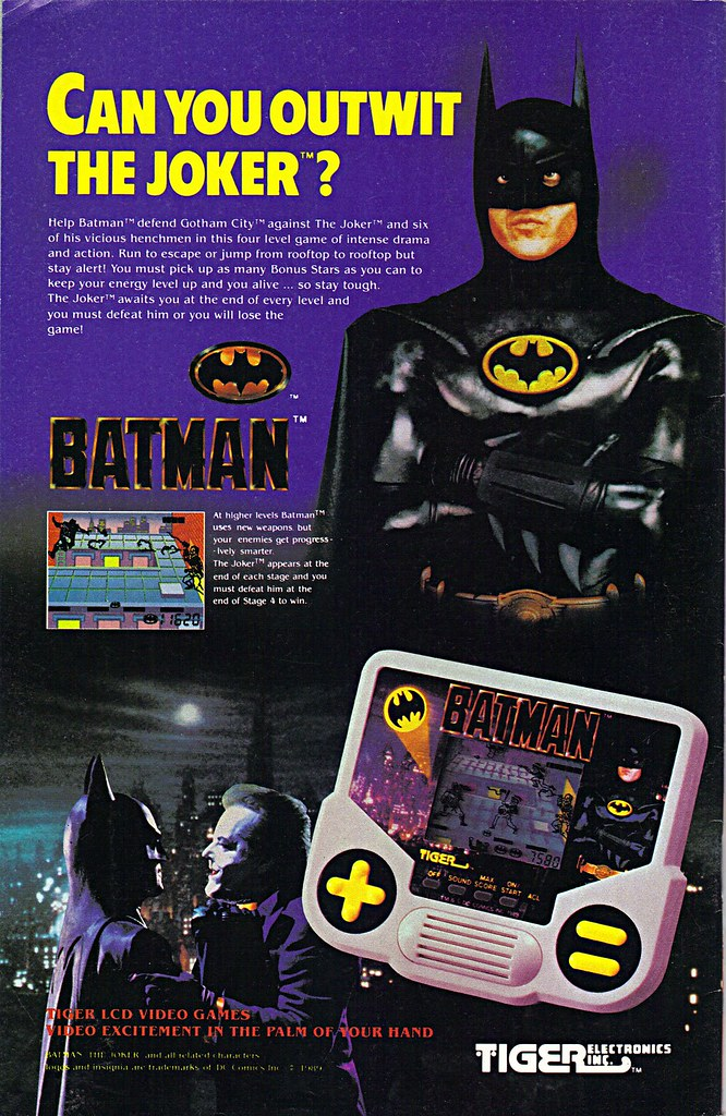 """TIGER ELCTRONICS :: """"BATMAN"""" Handheld LCD  VIDEO GAME; """"CAN YOU OUTWIT THE JOKER ?"""" (( 1989 )) by tOkKa"""