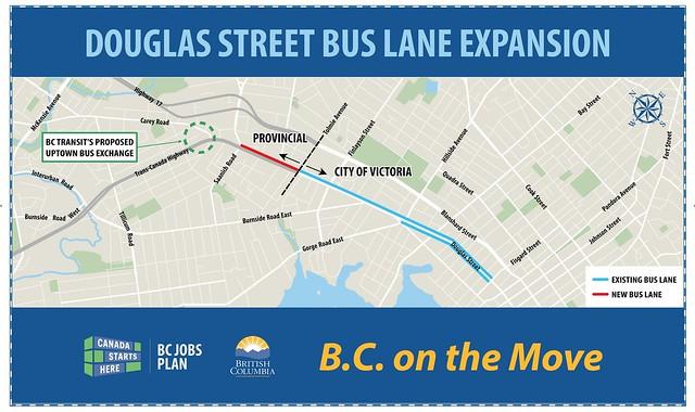 Douglas Street bus lane extension