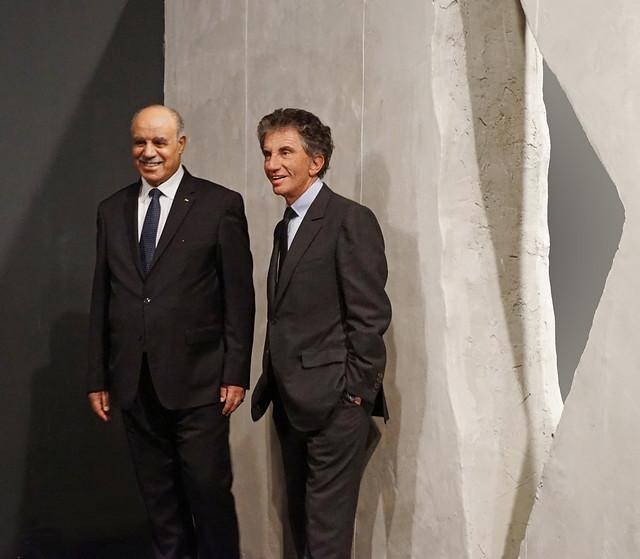 L'inauguration de l'exposition Palestine (Institut du Monde Arabe, Paris)