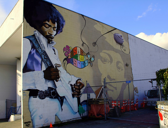 Jimi Hendrix Mural - Strathcona District