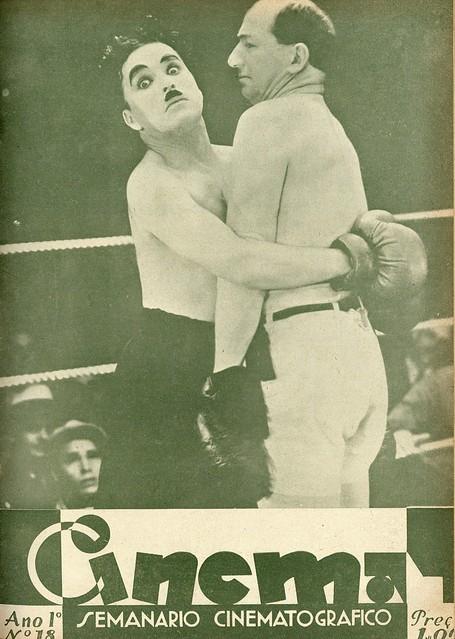 Capa de revista antiga com Charlie Chaplin, 1932 | Magazine cover with Charlie Chaplin, 1932