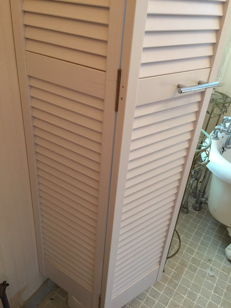 Bifold Doors Make Bathroom Storage Tower Regular Shutter