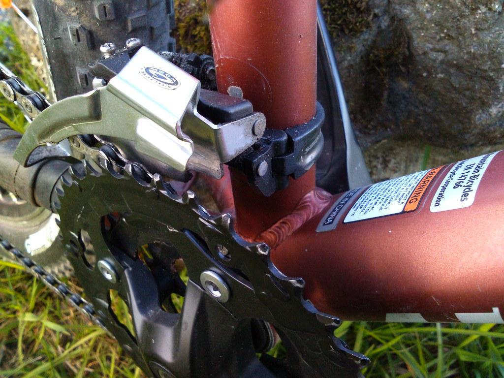 2016 upgraded 2010 Trek 6300-crank area-Shimano deore dron front derailleur -mega drive