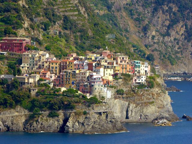 Manarola seen from Corniglia. Cinque Terre.