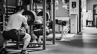 Kevin Phengthavone 415lbs squat black and white   by ljgoyke