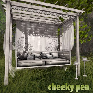 Fanciful Daybed Pergola for Whimsical   by Isla Gealach / Cheeky Pea