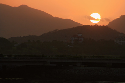 sunset orange sun dusk panama landcape luismosquera
