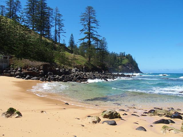 Cemetery Bay beach and coastline, Norfolk Island, Australia