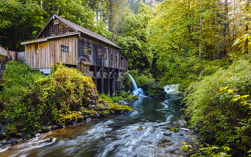 nature creek trees pacificnorthwest gristmill historic canoneos5dmarkiii canonef1635mmf4lis washington wallpaper background